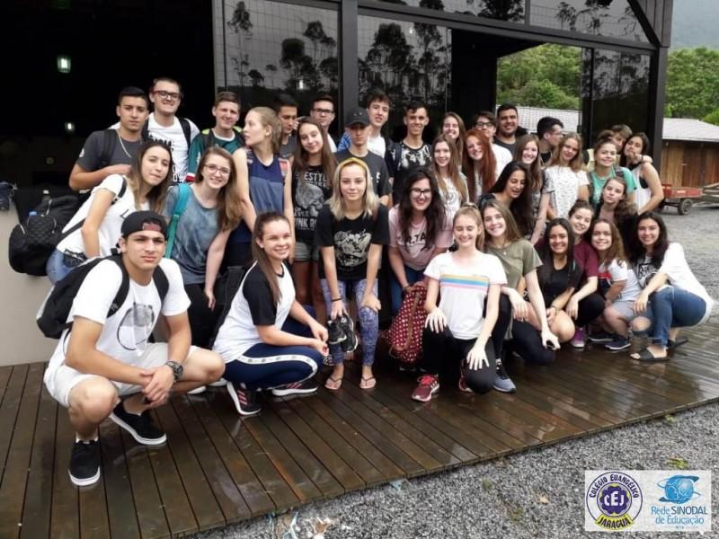 Confraternização com os alunos do Terceirão